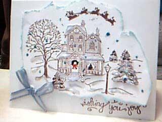 White Christmas House and Yard