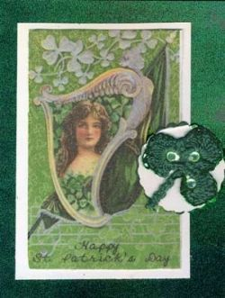 Card with Crocheted Shamrock