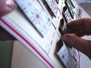 Closeup of Pockets of Original Advent Calendar