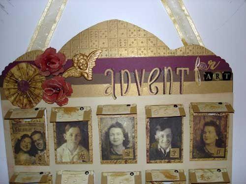 Closeup of Top of Heritage Calendar