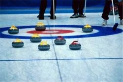 Curling Rocks Positioned to Defend the House