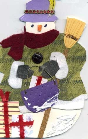 Front of Snowman Card