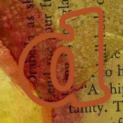 Artistic Digital Image of the Alphabet Letter D