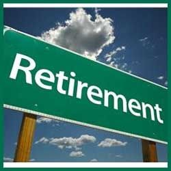 Road Sign Saying Retirement