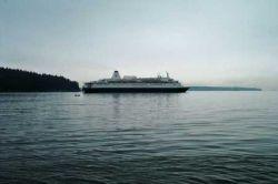 Alaskan Cruise Ship Passing Ambleside