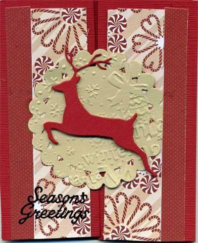 Seasons Greetings Card with Die Cuts