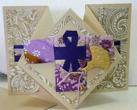 Fancy Fold card using Washi Paper Quilting