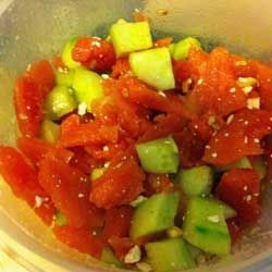 Dish of Watermelon Salad