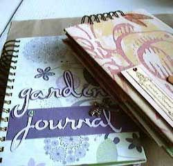 Two hand made garden journals