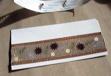 Burnished  Velvet Design on Greeting Card