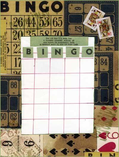 Bingo Card for an Artist
