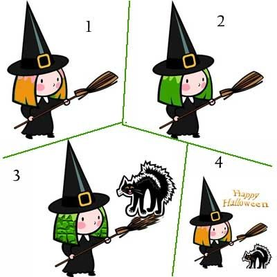 Clipart Witches Modified