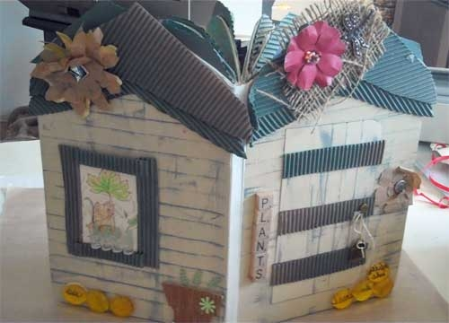 Garden Themed Altered Book, Covers