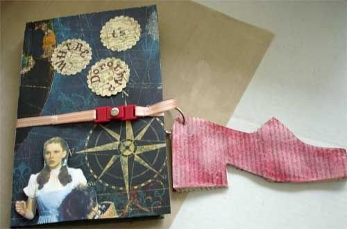 Dorothy's Red Slippers on Altered Book