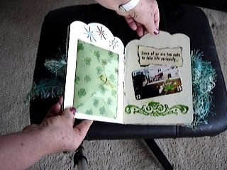 Altered Child's Board Book, Theme St. Patrick's Day