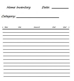 ****Quicky Storage Inventory Sheet*****