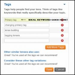 Ideal Keyword Is Primary Tag