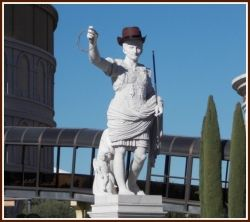 Caesars Palace Statue In Rodeo Gear - Image: M Burgess