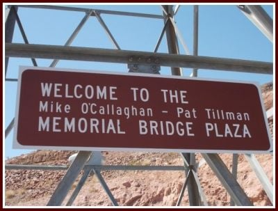 The Memorial Bridge sign