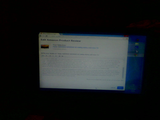 Here is a picture of the screen while I was writing the article.