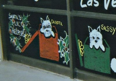 Santa's Little Helpers - Window Art
