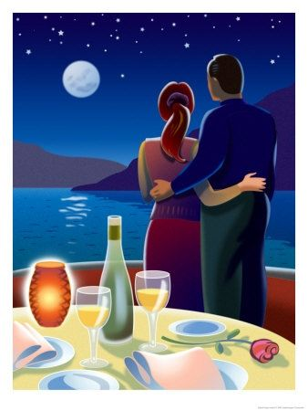 Couple At Romantic Dinner - Allposters.com