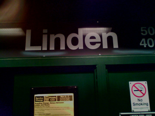 "This is a picture of the Linden ""el"" station in Wilmette.  It is the end of the line for the ""Purple"" train."