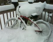 Sometimes I have to dig my bike out after a snow!