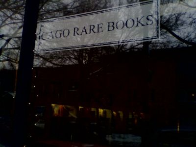 A picture of the storefront of Chicago Rare Books in Evanston.