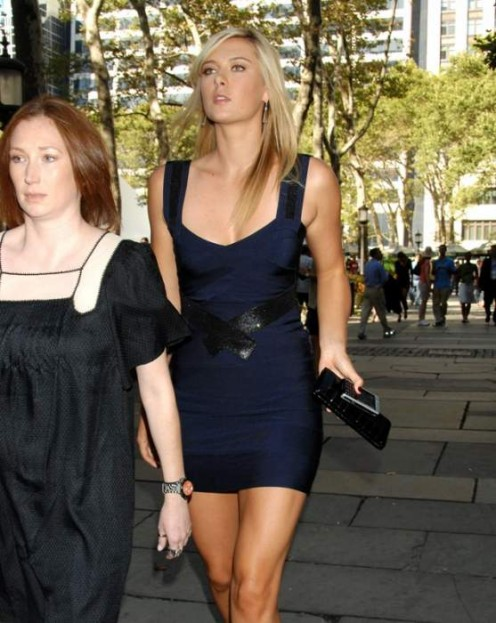 Maria Sharapova at Herve Leger Spring 2009 Fashion Show in New York City