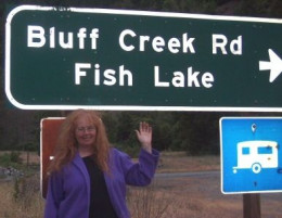Linda at Bluff Creek Road - 2006