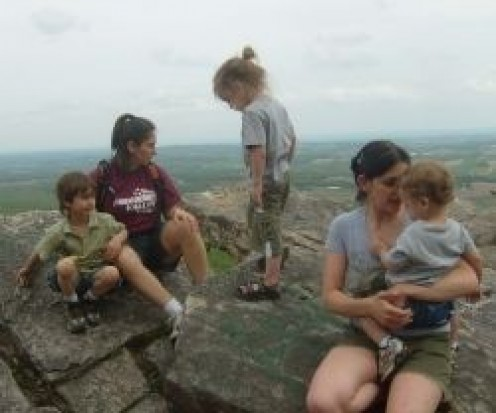 Vegan activity group on a hike