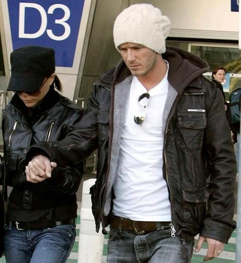 David Beckham in Brad Leather Jacket
