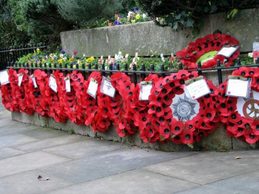 A British Remembrance Day display.