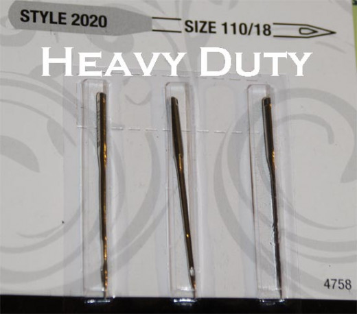 When sewing with duck cloth you need a heavy duty needle for your sewing machine.