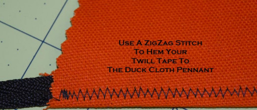 When sewing your hem use a zigzag stitch to make a strong attachment to your twill tape.