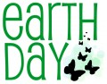 World Earth Day clip art green with butterflies