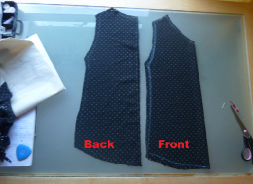 front and back fabrics