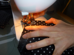 Sewing the front to the back
