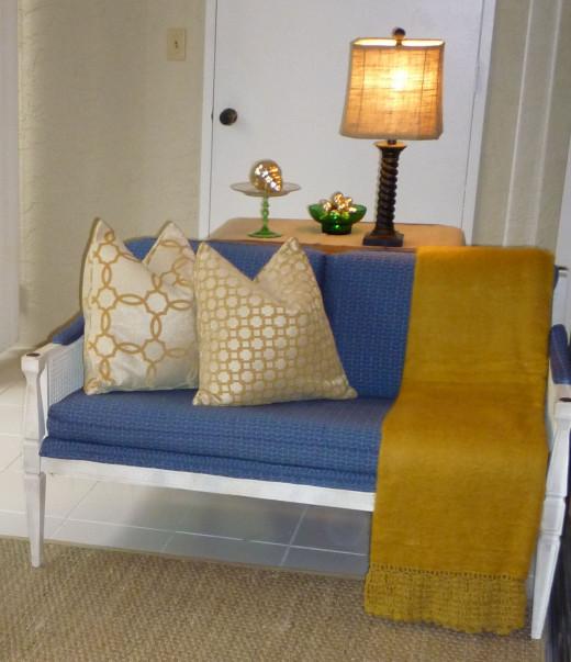 Buy Tempurpedic Mattress Cheap Lanai Settee: Found @ Habitat for Humanity ReStore with new upholstery ...
