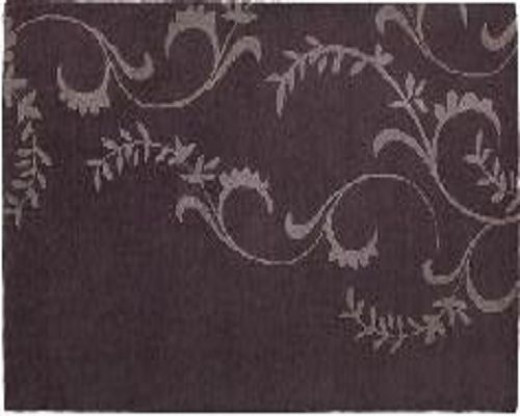 Inspired by the Art Deco era, this lovely area rug by Rizzy Home offers a soft, soothing plummy, lilac color with a large-scale curvaceous swirling pattern intended to anchor a room's design.