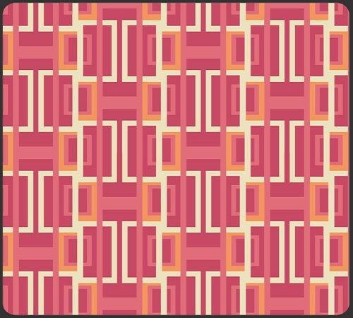 Available in August 2012, from Art Gallery Fabrics, we find two of our emerging Art Deco trend colors featured, the pinky mauve and soft orange, in this 100% cotton fabric. The inspiration for this fabric was taken directly from archived document fab