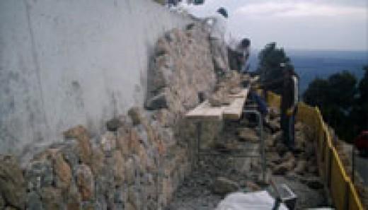Me working as a stone mason