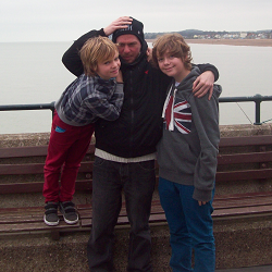 peterb6001 with sons Christmas 2012