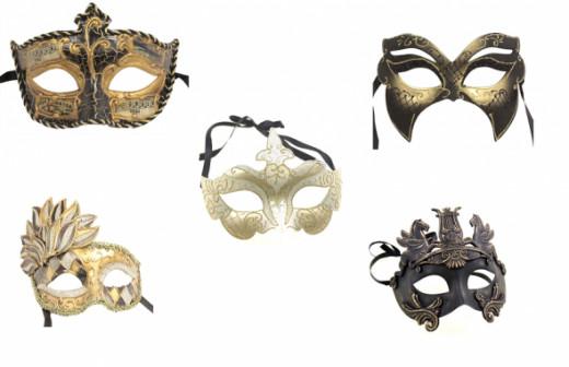 Gold Masquerade Masks