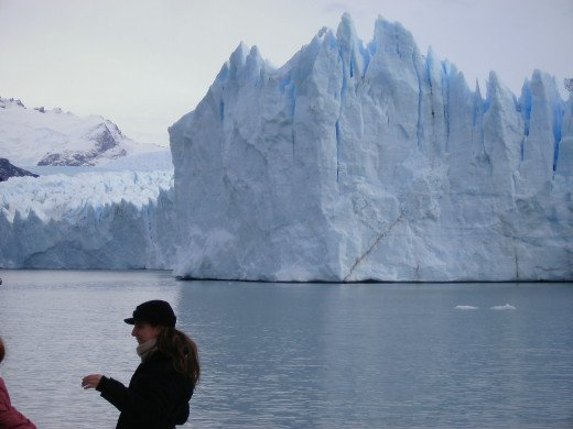 The southern front of the Glacier, from the boat, on a lake tour.