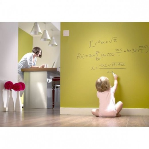 Give the kids a wall of their own to draw on while you are working in the kitchen.