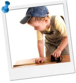Photo credit of little handyman in training from google images