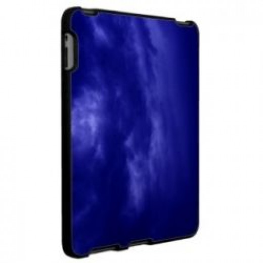 Dark Blue Cloudy Sky iPad Case