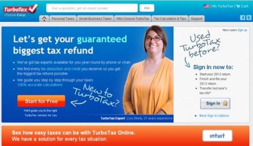 TurboTax website